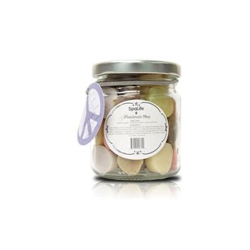 Egg Shape Tiny Handmade Soap - Assorted Scents and Colors in Glass Jar