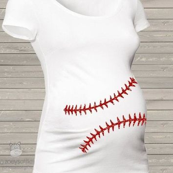 Sparkly Baseball Maternity Shirt