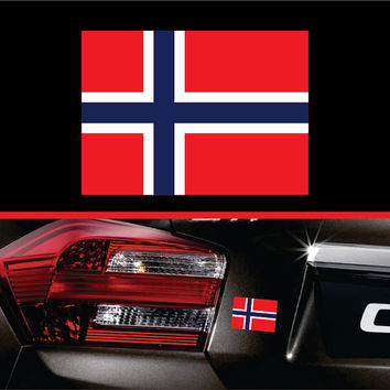 Norway Norwegian Flag Sticker Label Vinyl Decal Car Truck SUV Sticker Macbook Pro Sticker Macbook Air Decal Laptop Decal Window Decal