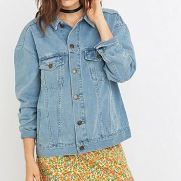 BDG Bleach Wash Oversized Denim Jacket - Urban Outfitters