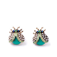 Crystal Bug Earrings