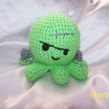 Crochet Frankenstein octopus Can be other monsters Halloween decoration
