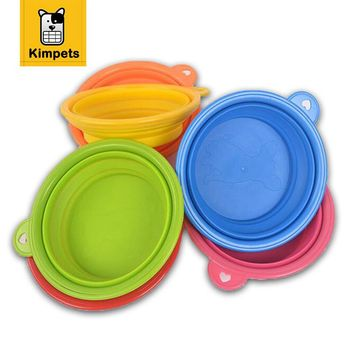 Pet Feeder Dog Cat Pet Portable Silicone Collapsible Travel Feeding Bowl Dog Water Bowls Feeder