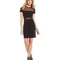 MICHAEL Michael Kors Mesh Panel Ponte Knit Dress | Dillards