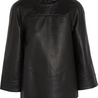 Fendi | Structured leather top | NET-A-PORTER.COM