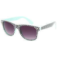 Full Tilt Chevron Sunglasses Mint One Size For Women 25638152301