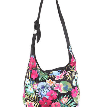 Disney Lilo & Stitch Floral Stitch Hobo Bag
