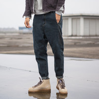 Winter Men's Fashion Rinsed Denim Pants Casual Denim Jeans [9070095171]