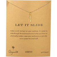 Dogeared Jewels New Reminder Let It Slide Necklace