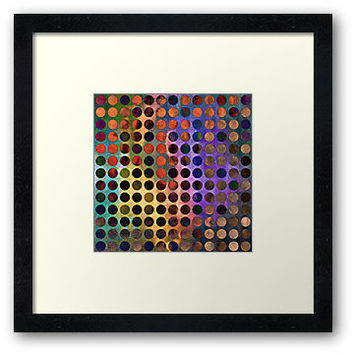 MELANGE of VIOLET and RUST - Framed Print by Pia Schneider, #artprint #framed #framedprints #home #decor #walldecor #pattern #circles