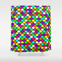 Scales Colors Shower Curtain by RichCaspian | Society6