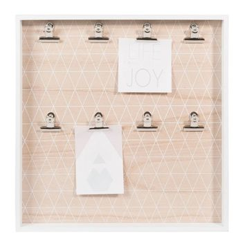 GRAPHIC PASTEL photo memo board in white 40 x 40cm | Maisons du Monde
