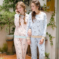Cotton Sleepwear Home Autumn Korean Ladies Set [9093726154]
