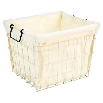 Circo Wire Milk Crate with Liner - Balanced Blue (Large)