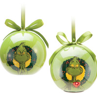 Dr. Seuss The Grinch Ball Ornament with LED Light