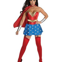 Wonder Woman Corset Adult Womens Costume - Spencer's
