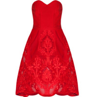 Lesla Red Sweetheart Dress