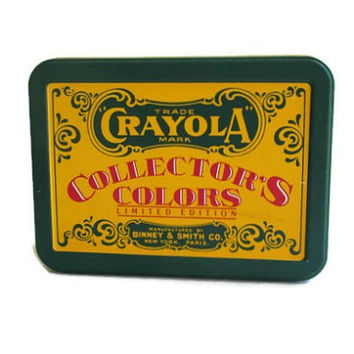 Crayola Collectors Colors Box, Limited Edition Collectible Crayon Box, 1991