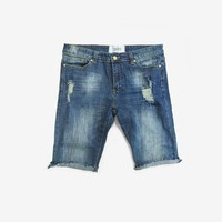 Dark Blue Wash Denim Short