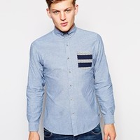 Brave Soul Shirt With Geo-Tribal Pocket