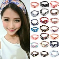 Women Turban Twist Headband Head Wrap Twisted Knotted Knot Hair Band Candy Hot Sale Free Shipping L4