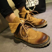 On Sale Hot Deal Winter Shoes Matte Round-toe Boots [7993610881]