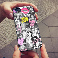 5sos and one direction collage ,iP4,iP5/5S/5C,SamsungS2,S3,S4,mini,Note2,3,Htc One,OneX,BB