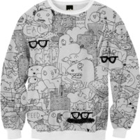 CRAZY CITY SWEATSHIRT created by Matthew Langille | Print All Over Me