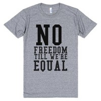 No Freedom Till We're Equal-Unisex Athletic Grey T-Shirt