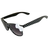 Polka Dot Wayfarer Style Sunglasses with Big Bow!
