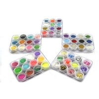 New 60 Box Color 5 Style Crushed Shell Acrylic Nail Art Glitter Powder Tip Decoration