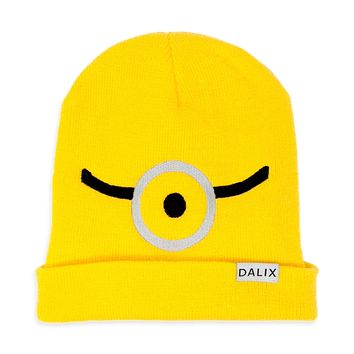 DALIX Minion Yellow Beanie Costume Hat Custom Color Outfit
