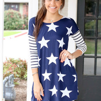 Liberty Dress - Navy
