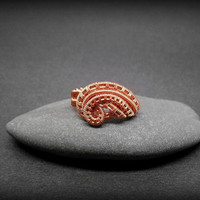 Wire wrapped ring, wire weave ring, size 10 ring, wave ring, handmade copper ring, wire wrapped jewelry for women