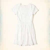 Girls Lace-Up Skater Dress | Girls Clearance | HollisterCo.com