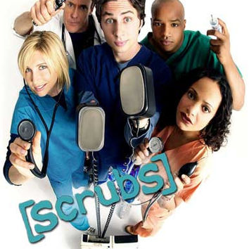 Scrubs Cast Zach Braff TV Show Poster 11x17