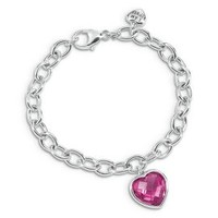 I Am Loved® Lab-Created Pink Sapphire Charm Bracelet in Sterling Silver         -                Colored Gem Bracelets         -                Bracelets         -                Jewelry         -                Categories                       - Helzberg