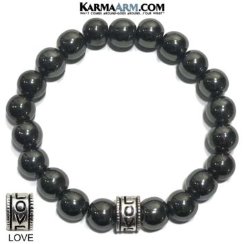 CLEARING THE PATH | Hematite | LOVE Bead Bracelet