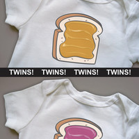 TWINS You are the Peanut Butter to My Jelly Funny by biasedbaby