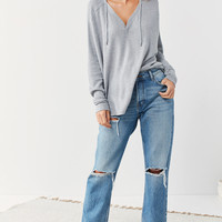 Out From Under Maya Relaxed Thermal Hoodie Sweatshirt | Urban Outfitters