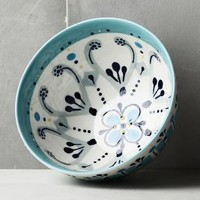 Agean Bowl by Anthropologie in Turquoise Size: Bowl Bowls
