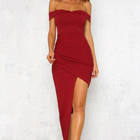 Runaway Love Maxi Dress Wine
