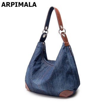 2017 Large Luxury Handbags Women Bag Designer Ladies Hand bags Big Purses Jean Denim Tote Shoulder Crossbody Women Messenger Bag