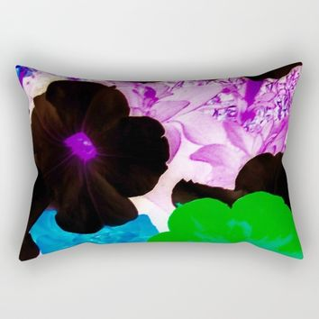 neon flower Rectangular Pillow by violajohnsonriley