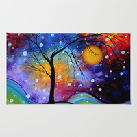 """""""Winter Sparkle"""" Original Whimsical Abstract Landscape Art by MADART Area & Throw Rug by Megan Aroon Duncanson ~ MADART   Society6"""