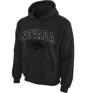 Nevada Wolf Pack Midsize Arch Pullover Hoodie - Dark Gray