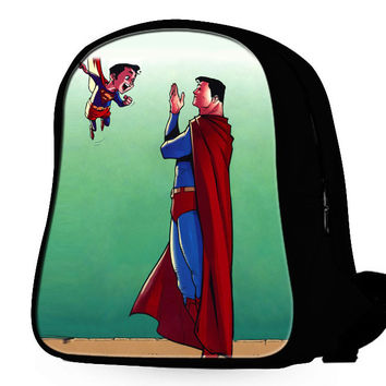 Superman And Superman Child Backpack