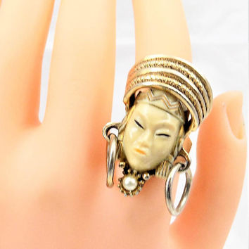 Selro Selini Asian Princess Ring, Adjustable Ring, Ring Only
