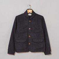 Universal Works Labour Jacket (Navy Melton) | Oi Polloi