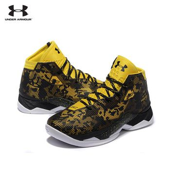 UNDER ARMOUR New Arrival UA Men's Curry 2.5 Sport Basketball Sneakers For Male Outdoor Medium Cut Athletic Cushioning Shoes